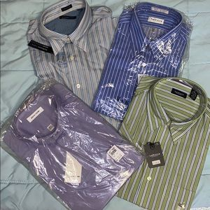 LOT 4 Van Heusen/Pierre Cardin Dress Shirts